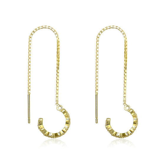 WOSTU Classical lure Surround Gold Color Drop Earrings For Women Fine Jewelry Fashion Gift SCE468 - WOSTU