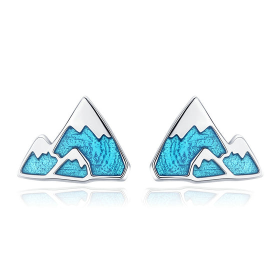 WOSTU Iceberg Mountain Stud Earrings For Women Girlfriend Unique Original Jewelry Gift SCE475 - WOSTU