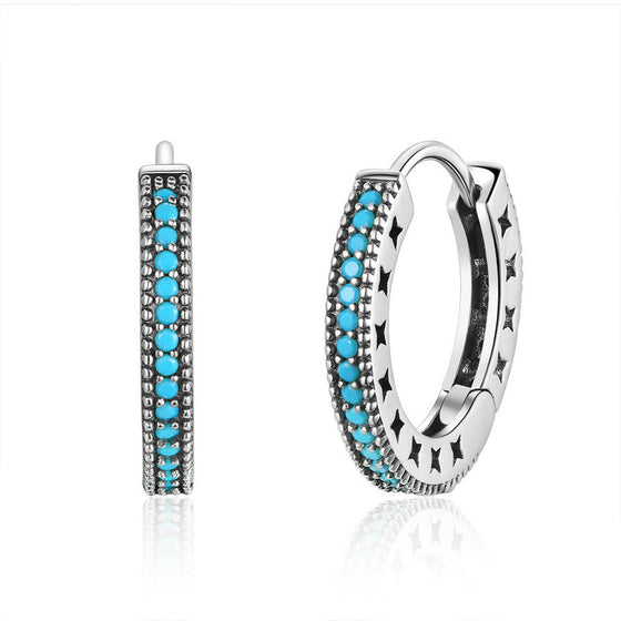 WOSTU Bohemia Style Hoop Earrings For Women Outgoing Activities Fashion Simple Jewelry Gift SCE493 - WOSTU