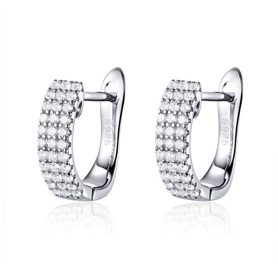 WOSTU Korean Fashion Dazzling Clear Zircon Stud Earrings For Women Wedding Engagement Earring Jewelry SCE560 - WOSTU