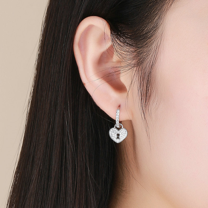 Cute Woman 925 Silver Jewelry Fashion Dangle Anniversary Drop Wedding Earrings
