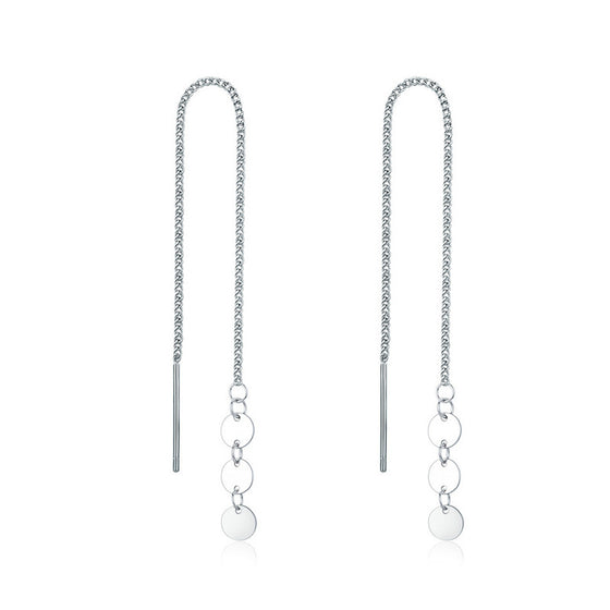 WOSTU Drop Earrings Simple Long Tassels Jewelry SCE687 - WOSTU