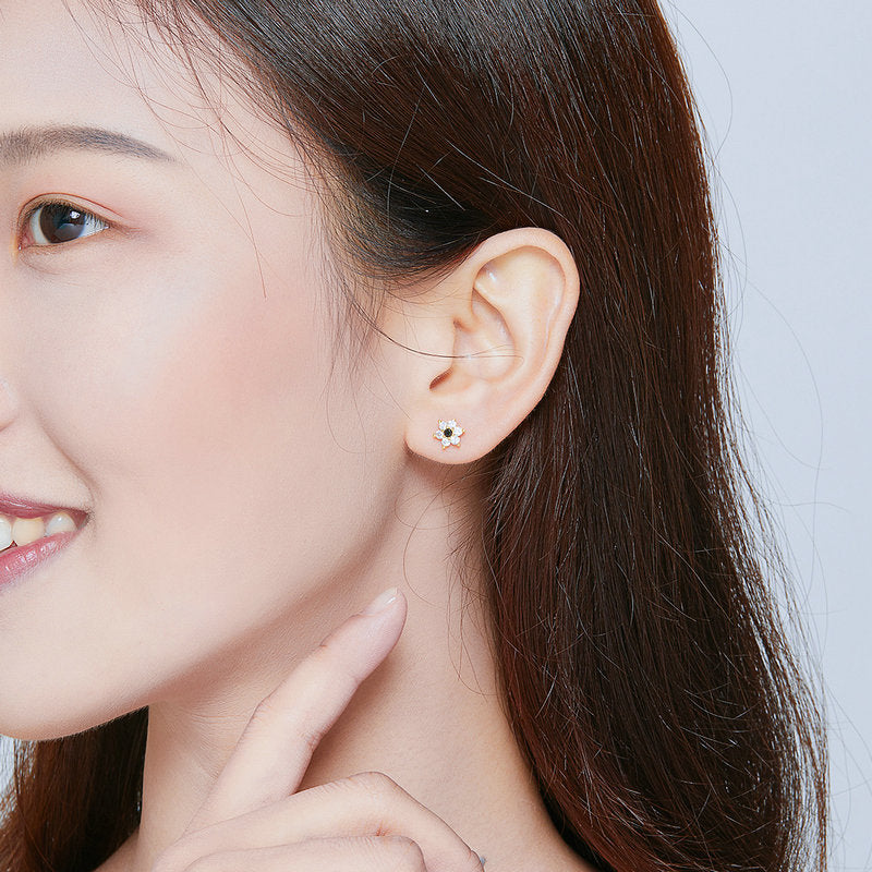 WOSTU SHINNING ZIRCON EARRINGS SCE708 - WOSTU