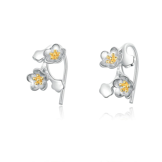 WOSTU Sakura Flower Earrings Jewelry SCE778