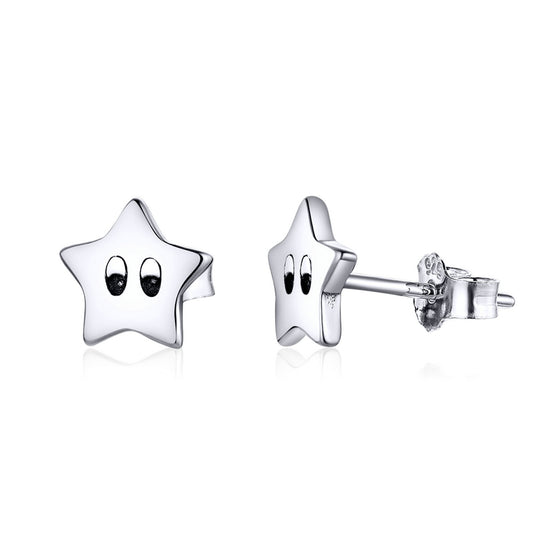 Little Star Stud Earrings for Girl Gifts SCE796 - WOSTU