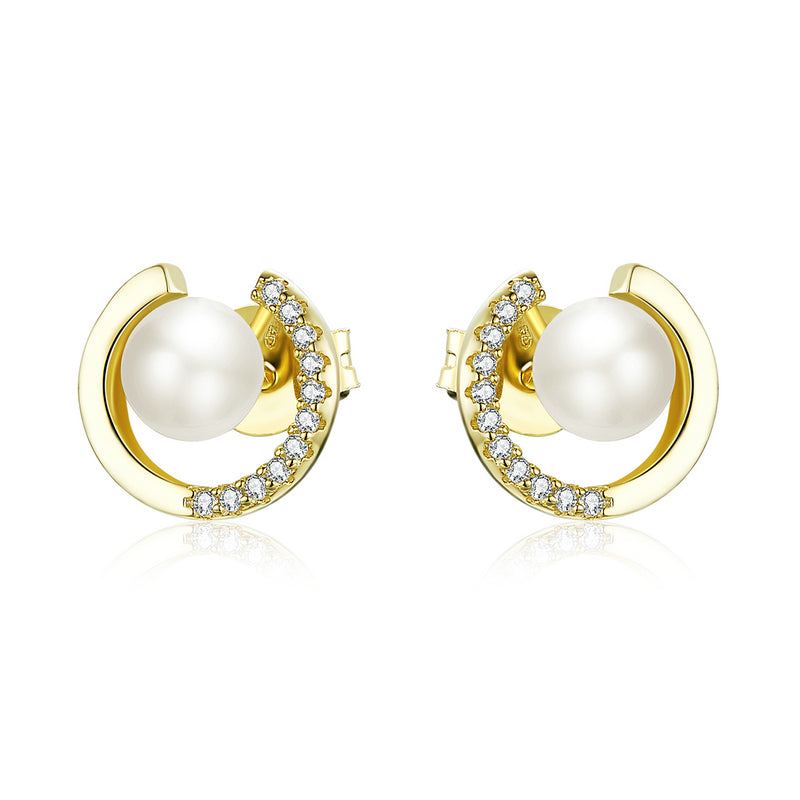 Pearl Stud Earrings Wedding Jewelry SCE802 - WOSTU
