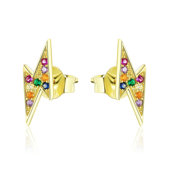 Flash Stud Earrings Jewelry for Girls SCE806 - WOSTU