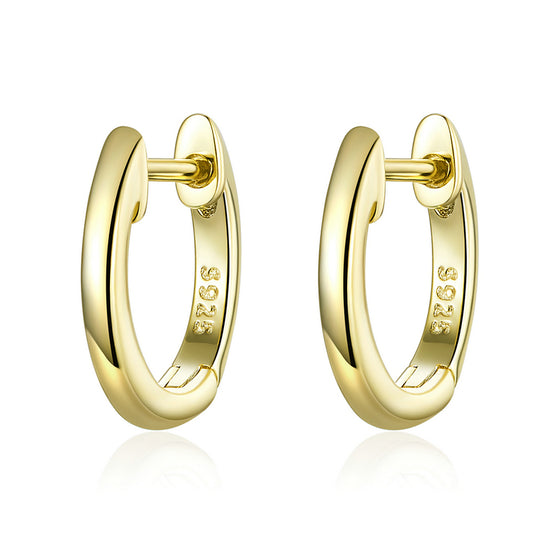 Tiny Hoop Earrings Gold Female Jewelry SCE808 - WOSTU