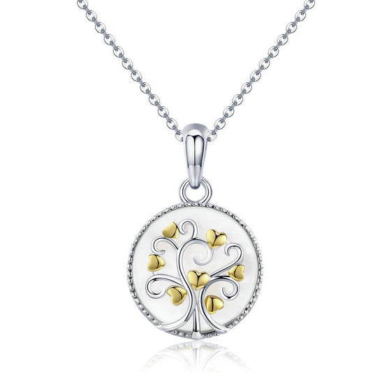 WOSTU & Gold Color Tree Of Life Pendant Necklace For Women Female Lucky Jewelry Gift SCN296 - WOSTU