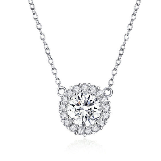 WOSTU SIMPLE ZIRCON JEWELRY NECKLACE SCN345 - WOSTU