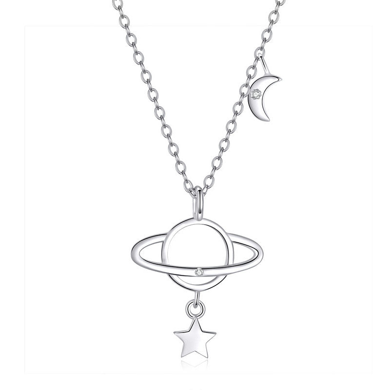 WOSTU SILVER NECKLACE Interstellar JEWELRY SCN349 - WOSTU