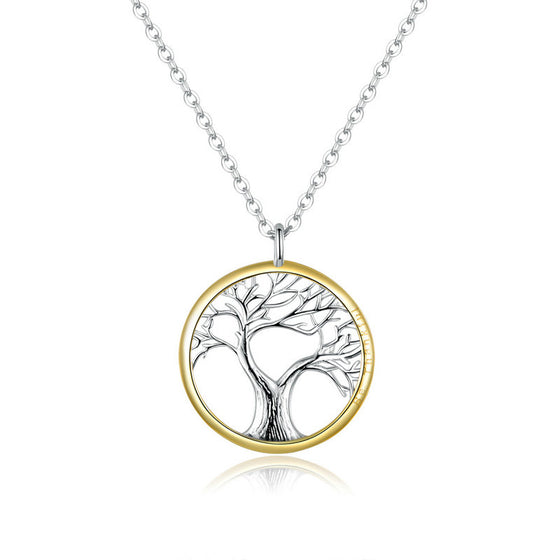 WOSTU Tree for life Chain Link Wedding Necklace SCN367