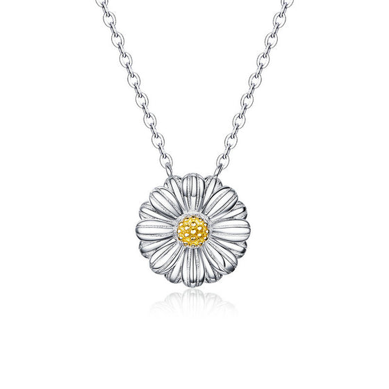 WOSTU Daisy Yellow Flower Wedding Necklace SCN370 - WOSTU