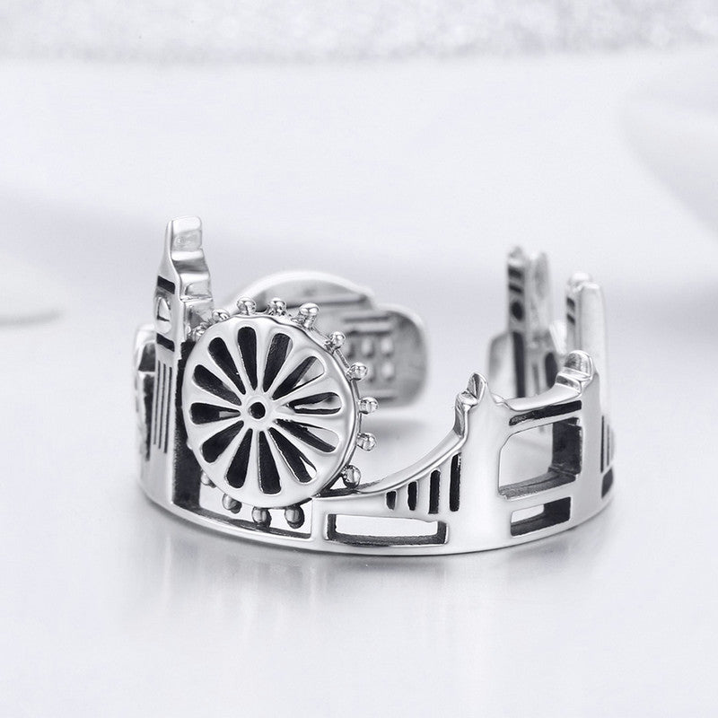 WOSTU London City Rings For Women Romantic Vintage Ring Fashion Punk Party Jewelry Best Gift SCR474 - WOSTU