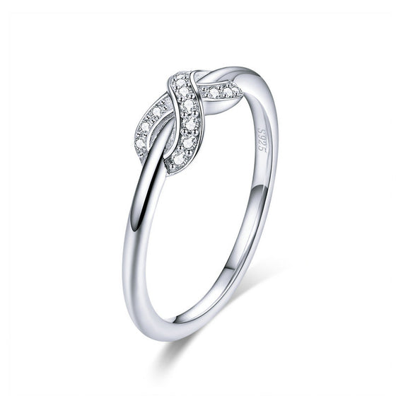WOSTU European Infinite Love CZ Finger Ring For Women Wedding Engagement Rings Luxury Jewelry SCR494 - WOSTU