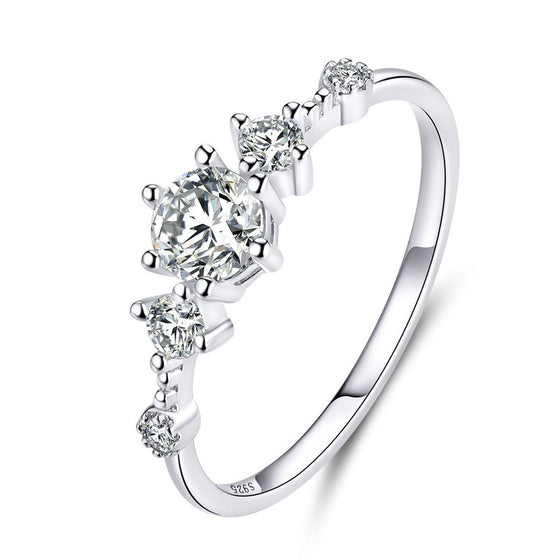 WOSTU SIMPLE WEDDING FINGER RING JEWELRY SCR568