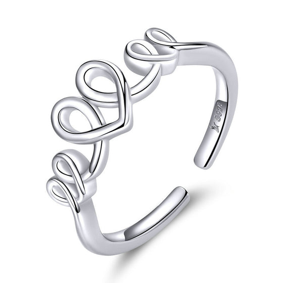 WOSTU LOVE HEART FINGER RINGS JEWELRY SCR588