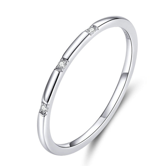 WOSTU SIMPLE WEDDING JEWELRY FINGER RINGS SCR591 - WOSTU