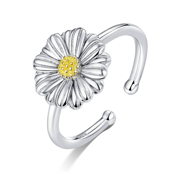 WOSTU Daisy Flower Rings Wedding Party Jewelry SCR616