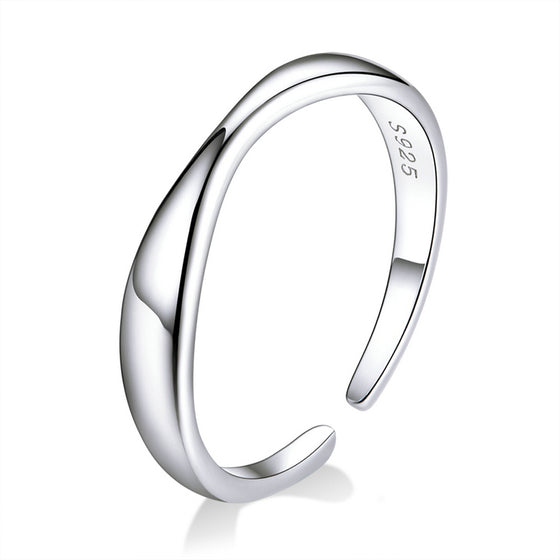 Ocean Wave Finger Rings Adjustable Jewelry SCR630 - WOSTU