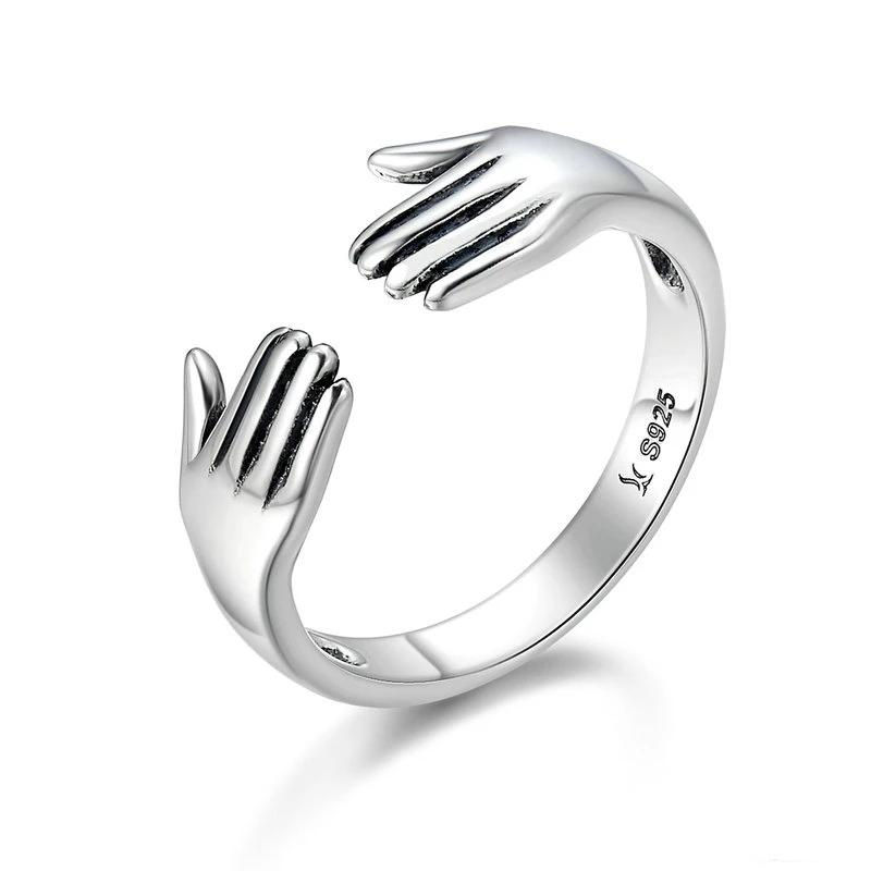 WOSTU Embrace The Future Adjustable Rings For Women Fine Jewelry New Year Gift For Lover SCR136 - WOSTU