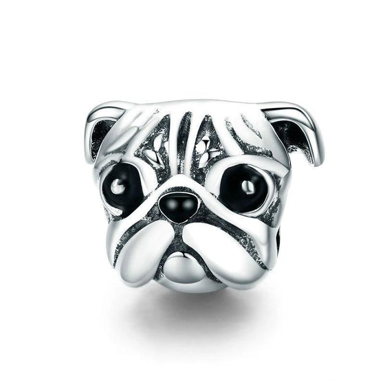 WOSTU Cute Pug Dog Pet Animal Charm fit Original DIY Beads Bracelet Jewelry Making Gift SCC834 - WOSTU