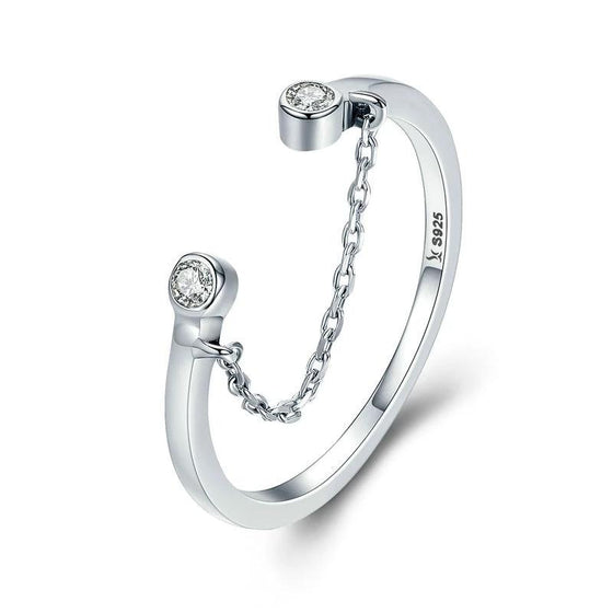 WOSTU Smiley Face Finger Rings For Women SJewelry Luxury  Gift SCR216 - WOSTU