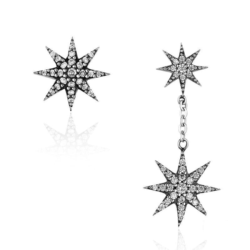 WOSTU Sparkling Star Stud Earring For Women Fashion Wholesale Jewelry Gift SCE108 - WOSTU