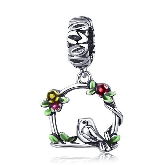 WOSTU Summer Brand New Bird & Cage Dangle Charm fit Beads Bracelet Necklace Original DIY Jewelry Gift SCC645 - WOSTU