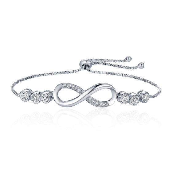 ENDLESS LOVE INFINITY LACE UP TENNIS BRACELETS - WOSTU