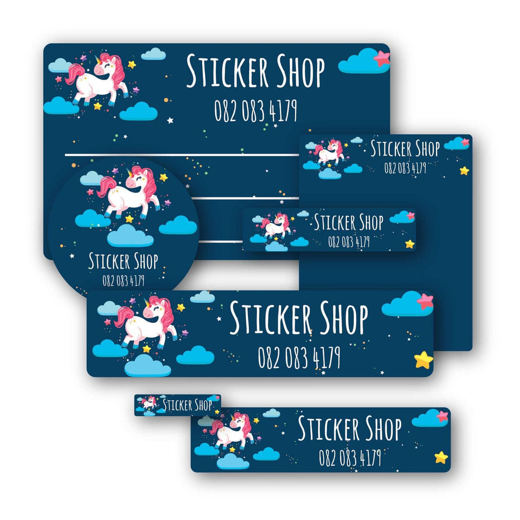 Unicorn night name labels value pack