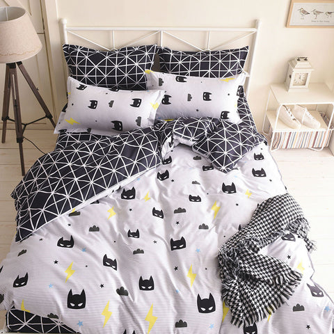 Buy Black Batman Mask Bedding Set at DekiGo
