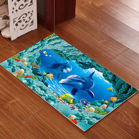 Buy 3D Printed Bathroom Memory Foam Rug at DekiGo