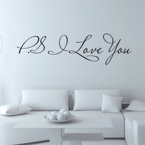 Fashion I Love You Removable Art Vinyl Mural Wall Stickers