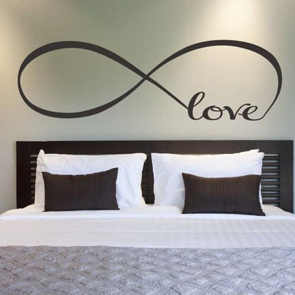 Buy 22*60CM/44*120CM Bedroom Wall Stickers Decor Infinity Symbol Word Love Vinyl Art wall sticker decals decoration at DekiGo wall sticker