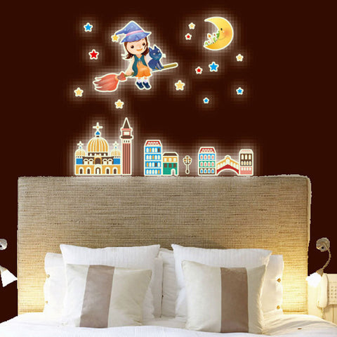 Buy Kids Bedroom Fluorescent Glow Wall Stickers Home at DekiGo wall sticker