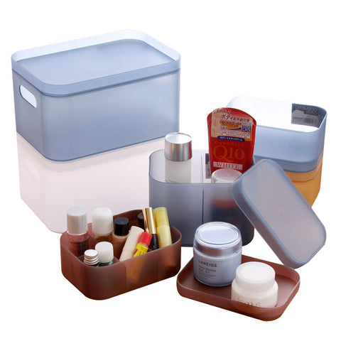 Transparent Plastic Storage Box for Cosmetics