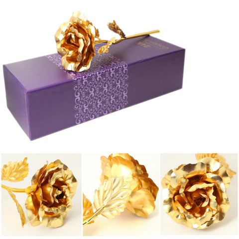 Buy Foil Plated Rose Gold Rose Wedding Decoration Flower at DekiGo