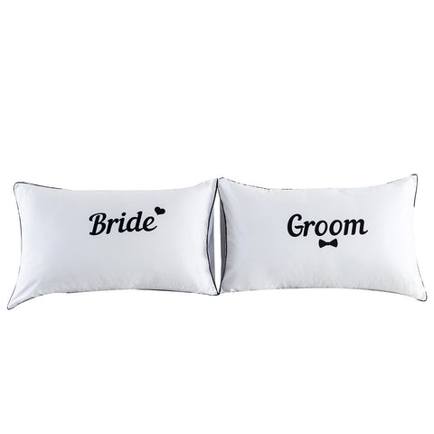 Buy Set of 2 Couples Pillow Cases at DekiGo pillow