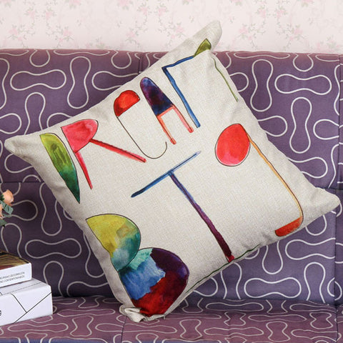 Buy English alphabet cushion covers decorative pillows cushions home decor at DekiGo