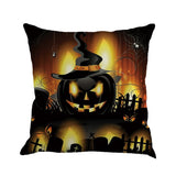 Buy Happy Halloween Pillow Cases Linen Sofa Cushion Cover Home Decor at DekiGo