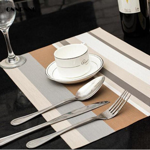 4pcs/lot 5 Color Dining Table Mat