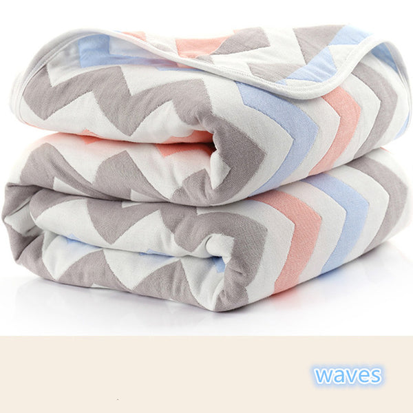 Buy 115 CM Muslin Cotton 6 Layers Baby Blanket at DekiGo