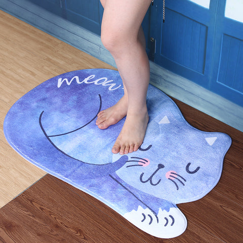 Sleeping Cat Bathroom Rug