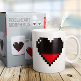 330ML Ceramic Coffee Milk Cup Magic Color Change Love Tea Mug Hot Water Drinkware Color-changing Mug Good Gift
