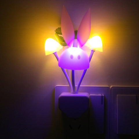 Buy LED Mushroom Rabbit Night Light at DekiGo