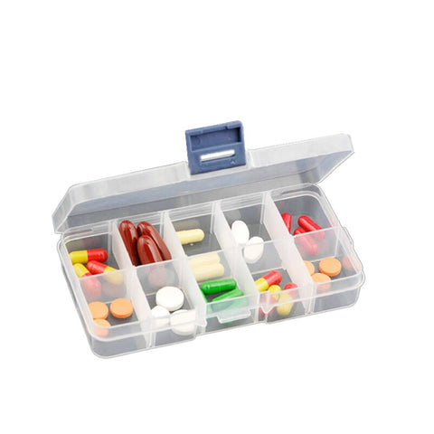 Small 10cells Transparent Plastic Pill Box