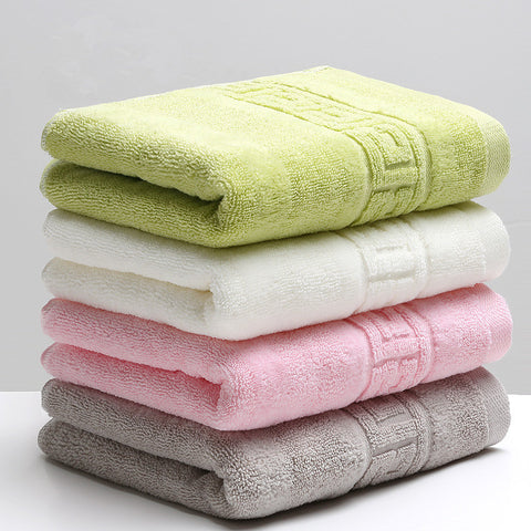 Buy 34x74cm 100% Cotton Absorbent Solid Color Soft Comfortable Towel at DekiGo