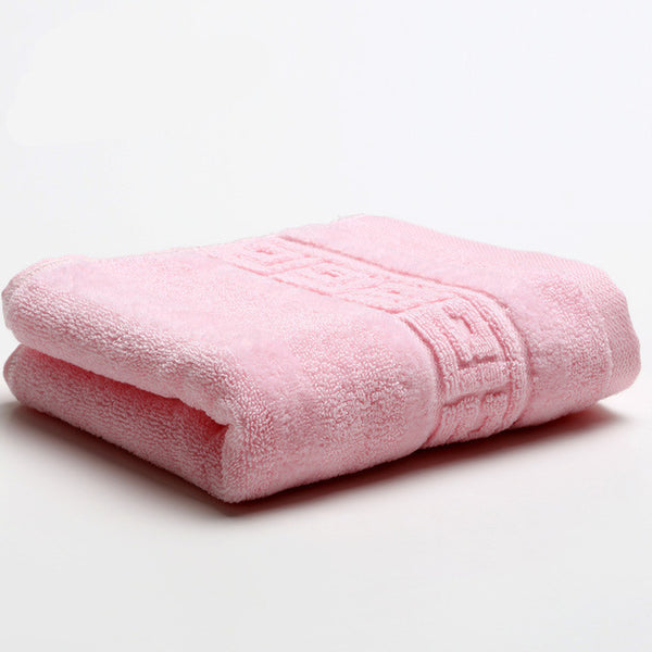 34x74cm 100% Cotton Absorbent Solid Color Soft Comfortable Towel