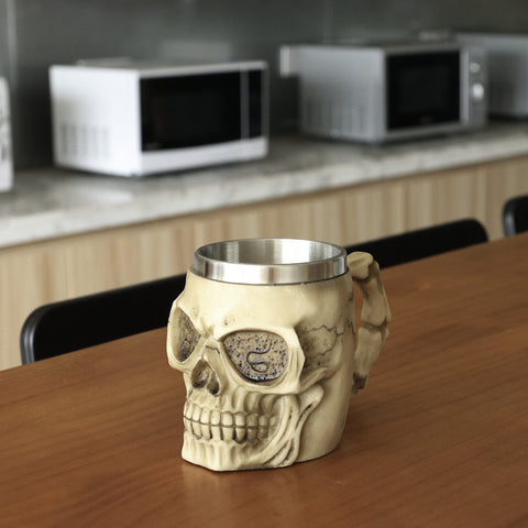 Buy Stainless Steel Skull Coffee Mug at DekiGo coffee mug, cup